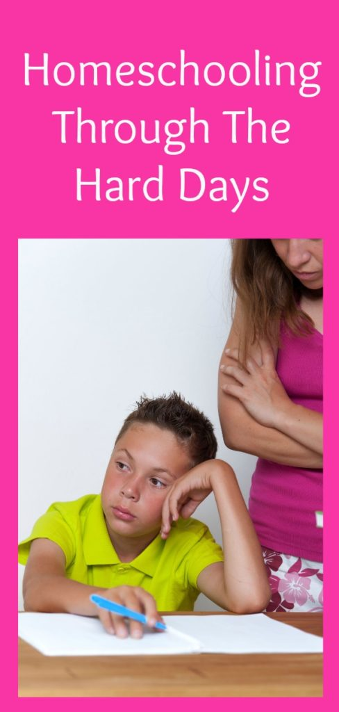 Some days homeschooling is hard, frustrating, and just plain ugly. Follow this advice to get through your hardest days. #homeschool #homeschooling