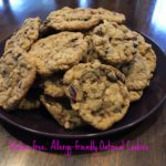 Gluten-free, Allergy-friendly Oatmeal cookies