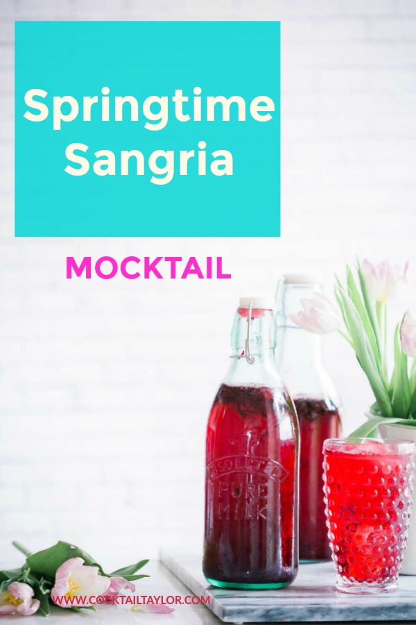 This Sangria Mocktail is the perfect spring drink for those who want something fun without the alcohol! fearlessfaithfulmom.com