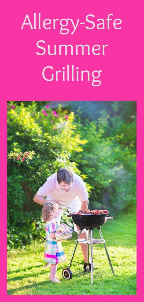 Have a fun & allergy-safe summer grilling season with these tips & tricks! #barbecue #summer #allergyfriendly