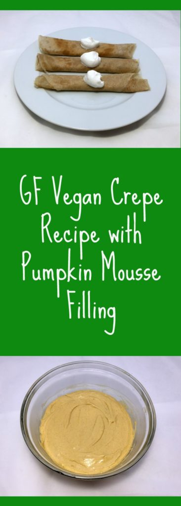 This recipe for GF, vegan crepes filled with a creamy pumpkin mousse is the perfect make-ahead meal for Christmas morning or a potluck brunch!