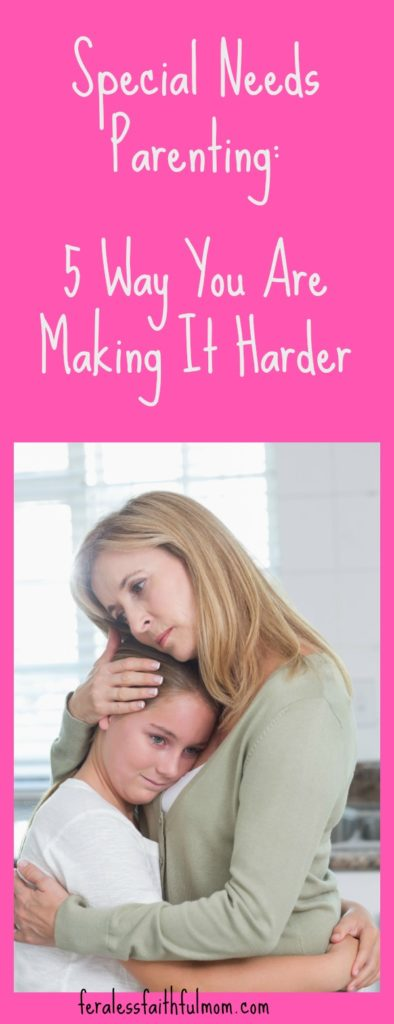 Parenting kids with special needs is HARD! There are things we do that make it harder. Come learn how to avoid these classic mistakes! #specialneeds #parenting