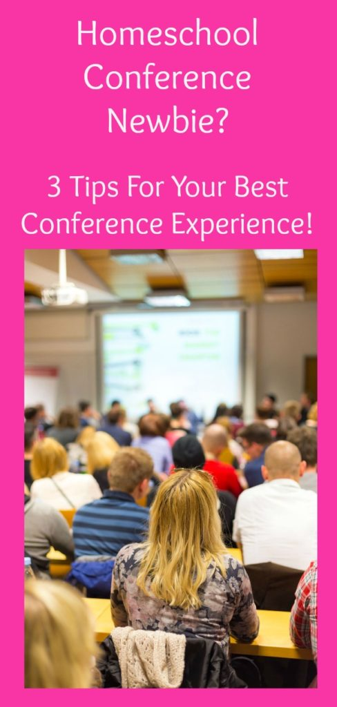 Are you considering going to a homeschool conference this year? Follow these 3 simple tips to avoid the overwhelm and have your best conference experience! #homeschool #homeschoolconference
