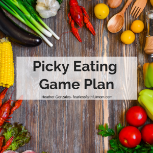 If picky eating has made your dinner table a battleground, use this picky eating game plan to bring peace to your house!
