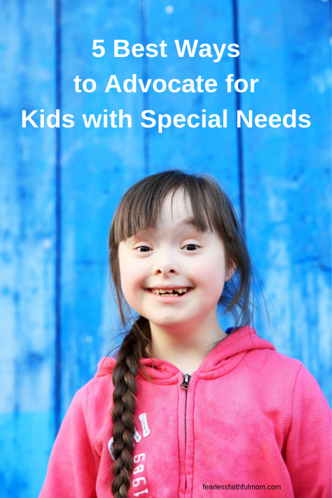 Raising kids with special needs means learning to be a strong advocate in school and in life. Read about 5 specific ways you can advocate for your child! #specialneeds #parenting #advocate